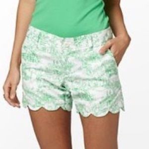 LILLY PULITZER Spring Fever Buttercup Toil Shorts